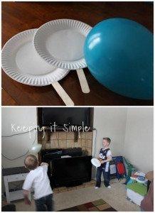 raquettes ballon intérieur